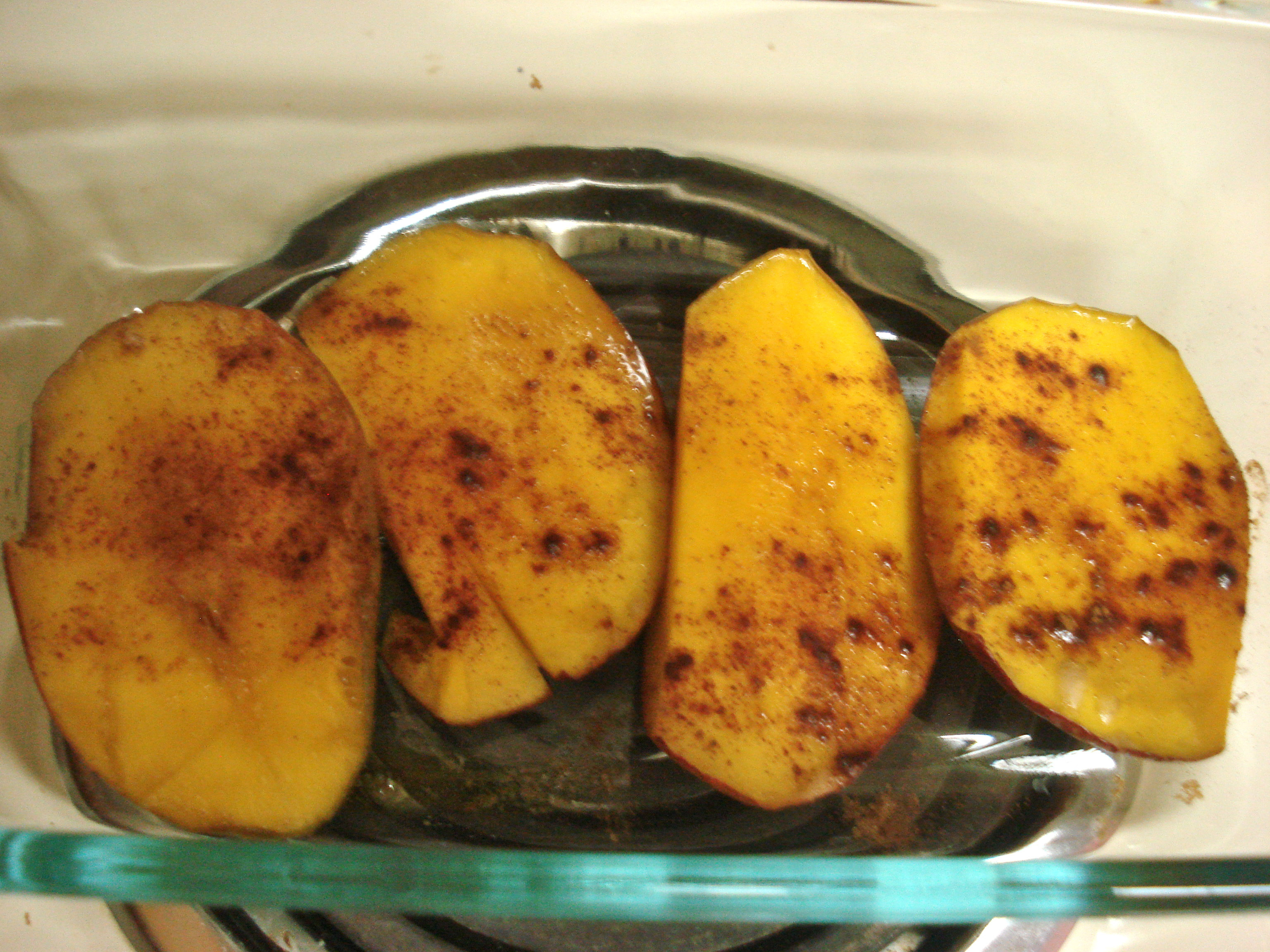 baked mango with brown sugar & cinnamon | Day-By-Day Masterpiece