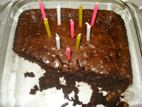 bday brownies