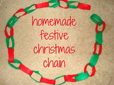 homemade festive xmas chain