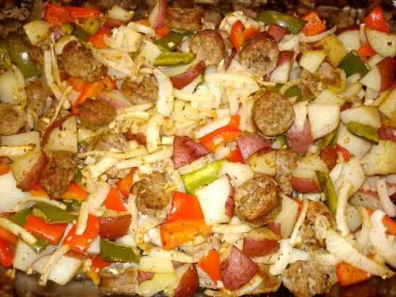 sausage potato veggie bake