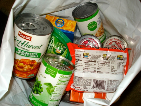 food donation bag