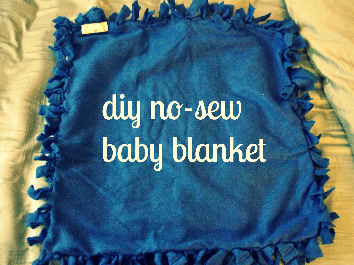 Diy No Sew Baby Blanket Day By Day Masterpiece