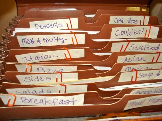 recipe labels