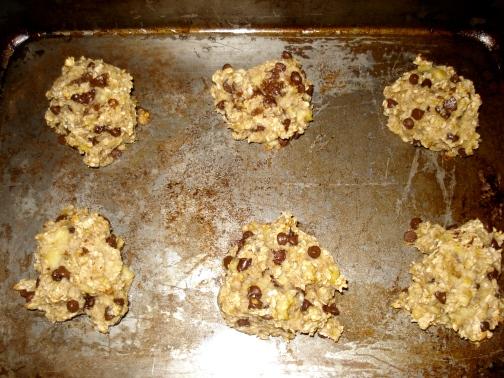 banana cookies done