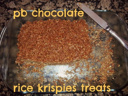 pb chocolate rice krispies