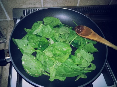 spinach before