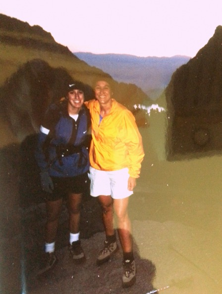 me and mom on trail
