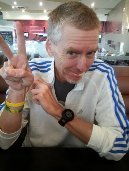 Dad at sushi