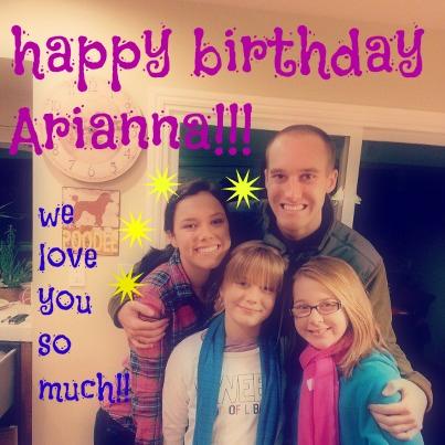 arianna bday