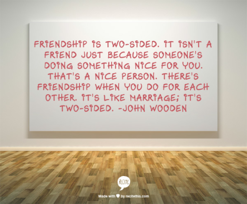 wooden friendship quote