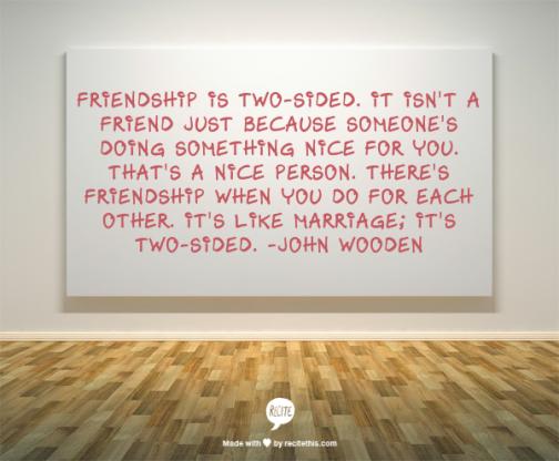 wooden friendship quote