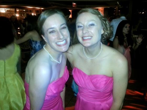 On the dance floor at Amanda's wedding this past summer...