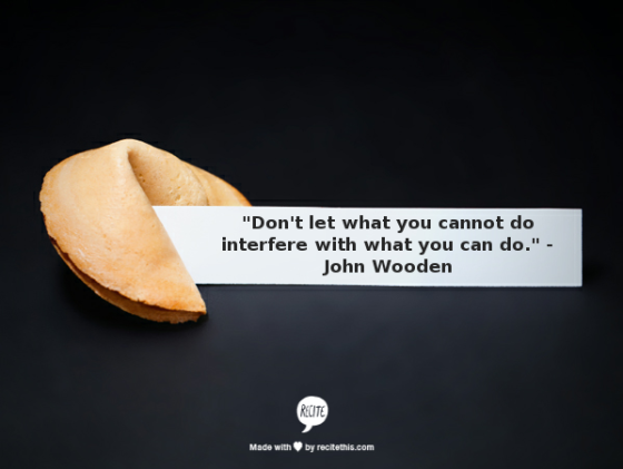 John Wooden fortune cookie