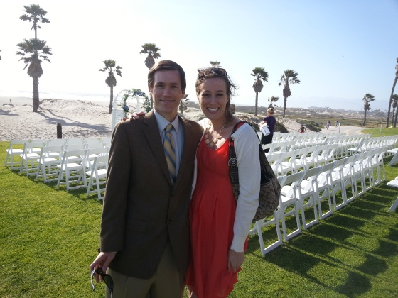 me and allyn wedding beach