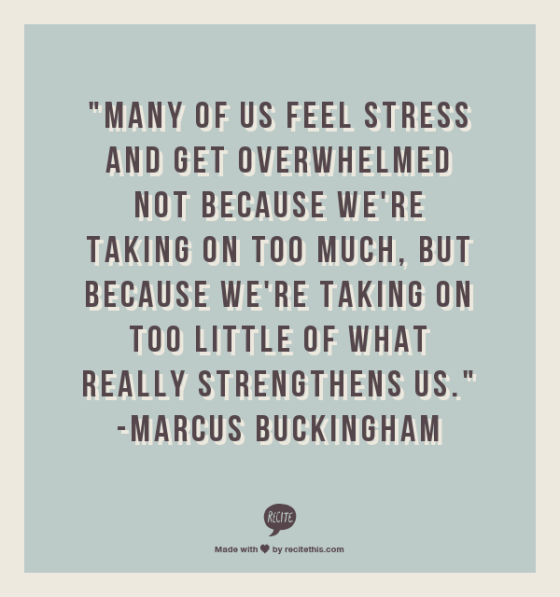quote on stress