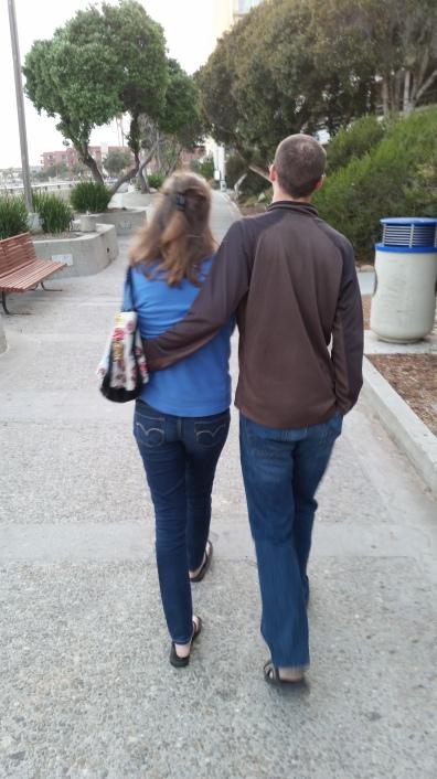 me and greg walking