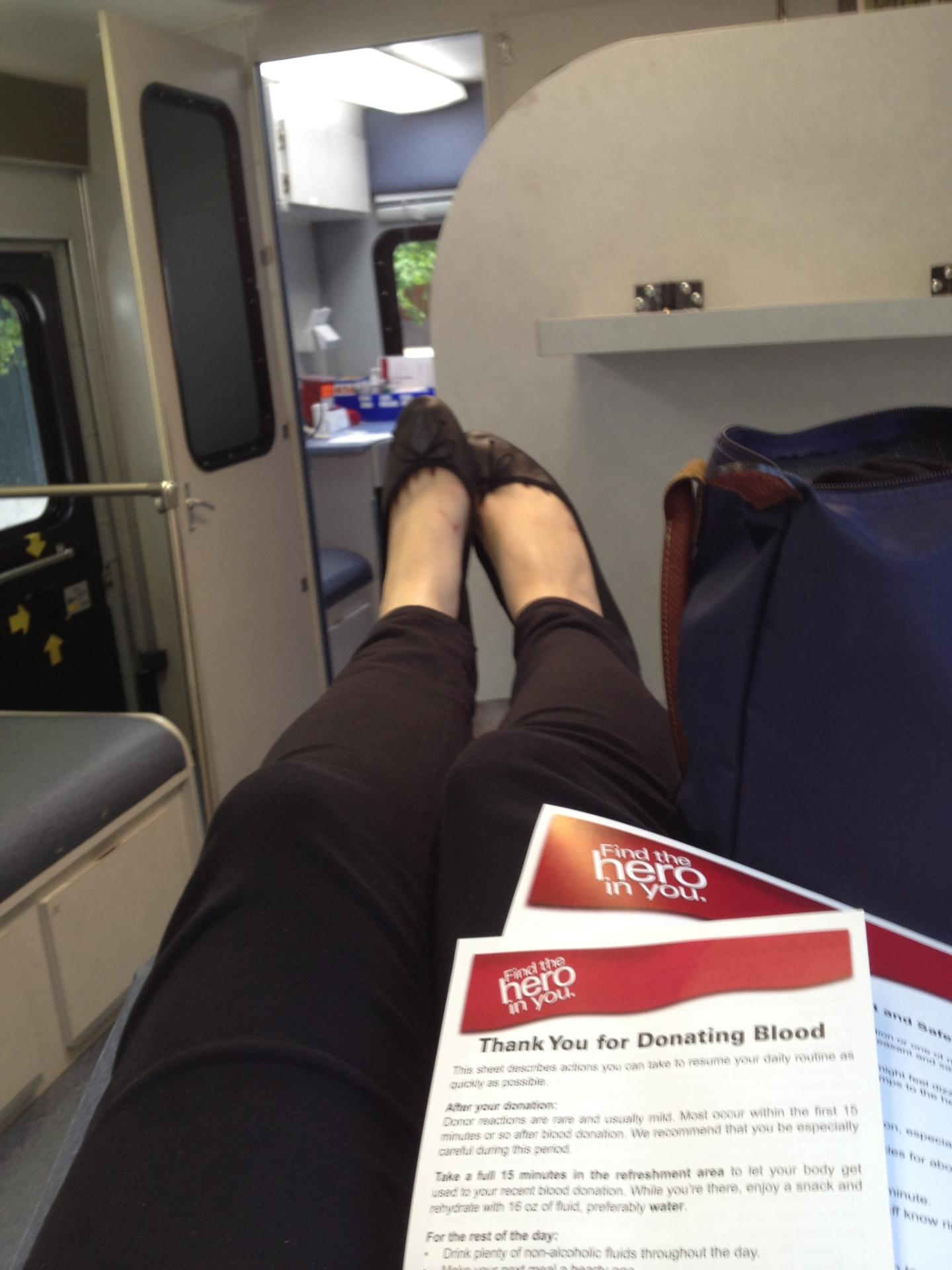 dana donating blood