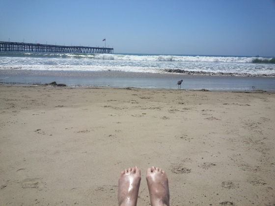 my feet and sand