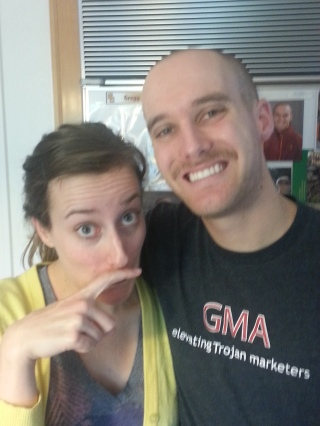 me and greg staches