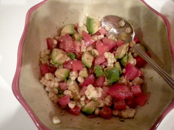 corn avocado tomato salad