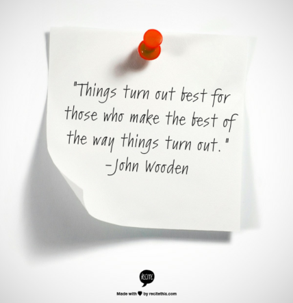 things work out best quote