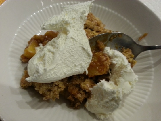 apple crisp slice