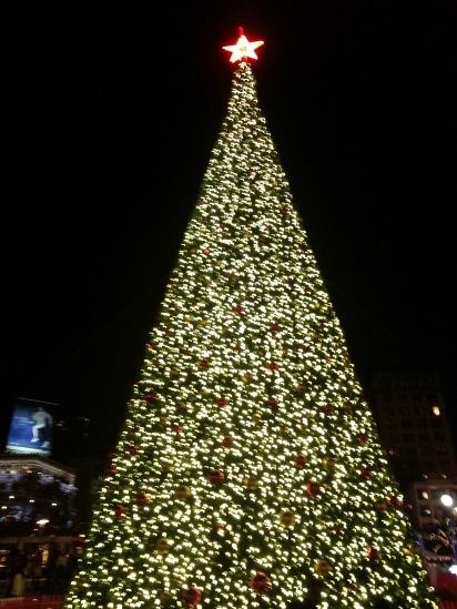 union square xmas tree