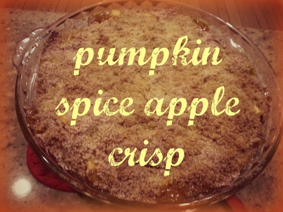 pumpkin spice apple crisp