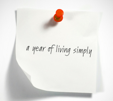 year of living simply