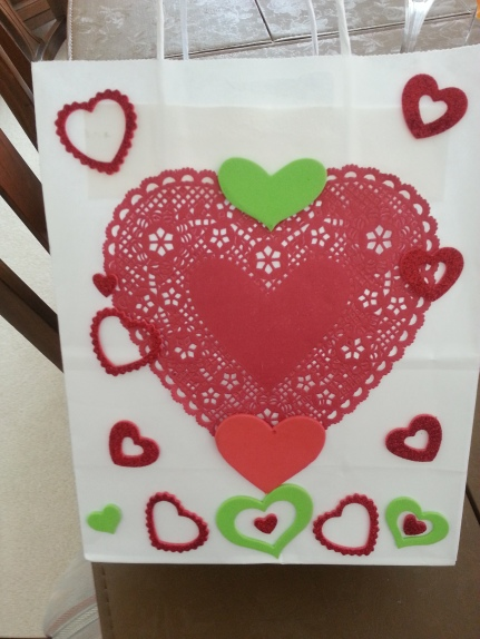 decorated heart bag