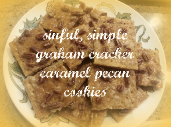 sinful graham cracker pecan cookies