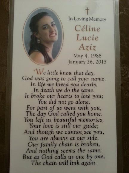 celine funeral