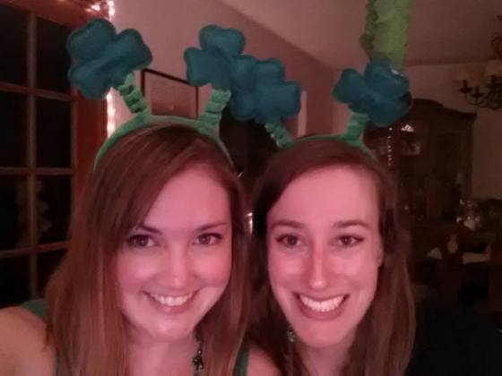 Photo from our St. Patty's date last year!