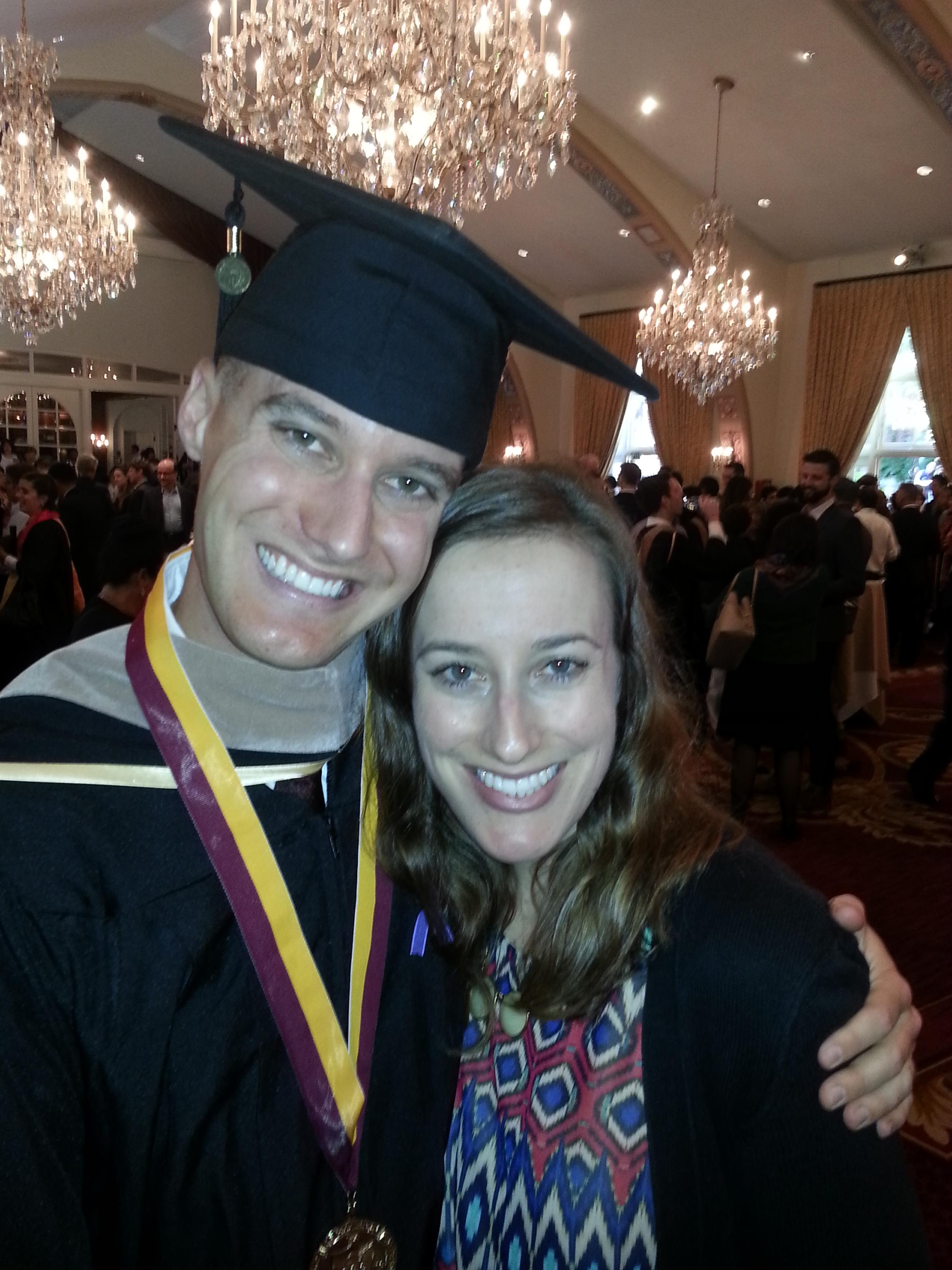 me and greg graduation