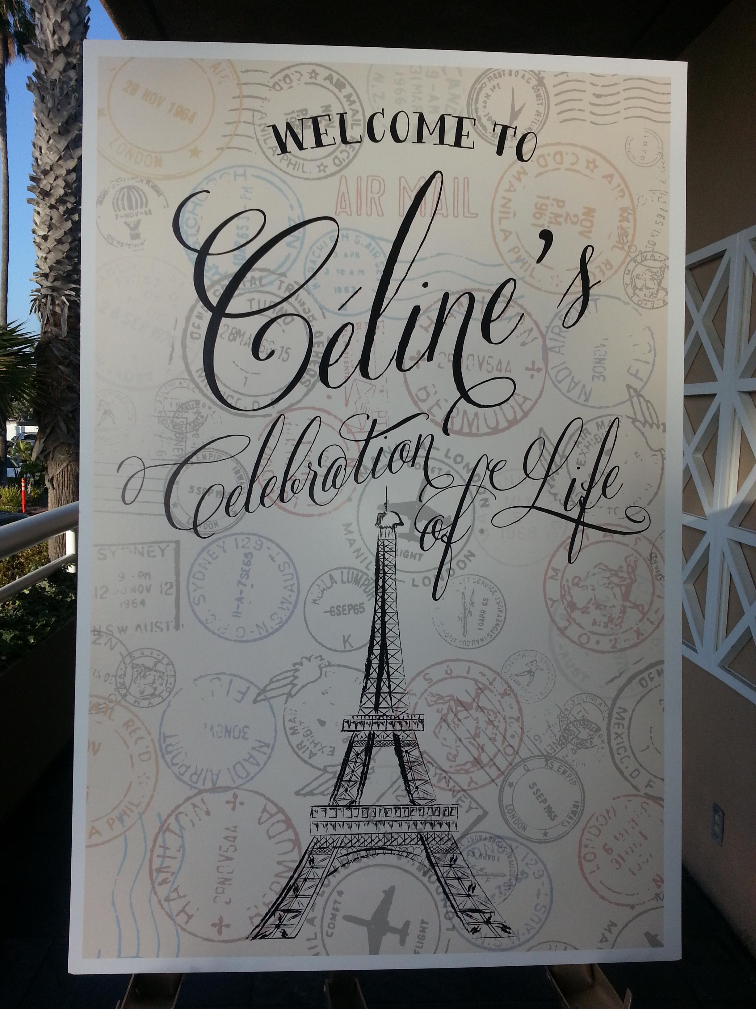 celine celebration of life