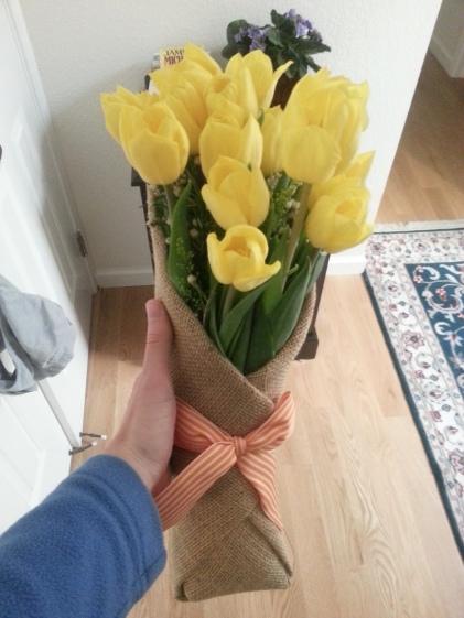 bday tulips