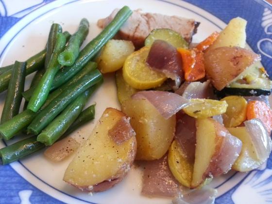 roasted veggies meal