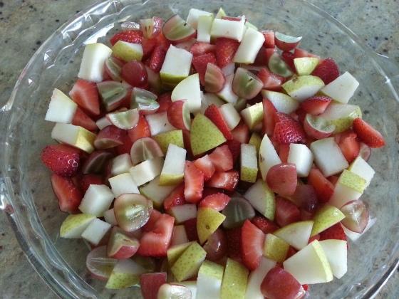 fruit in pan