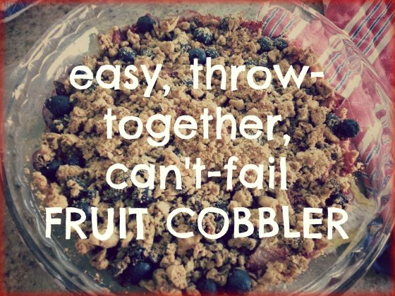 cant fail fruit cobbler