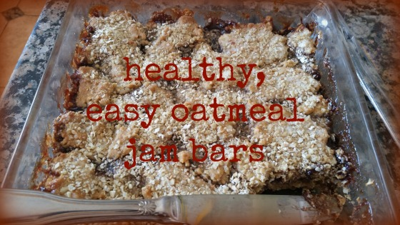 healthy easy oatmeal jam bars