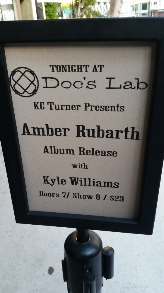amber rubarth concert sign