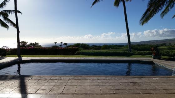 Hawaii pool view