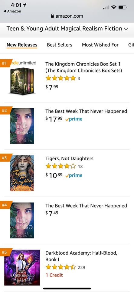 best week amazon rankings